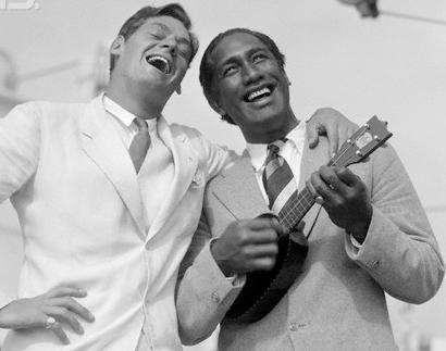 Weismuller och Duke Kahanamoku ukulele 1