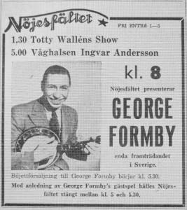 Annons Formby i Sthlm 1950