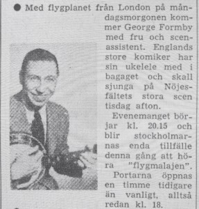 Artikel i Dagens Nyheter om att George och Beryll kommer till Stockholm. Samma artikel fanns i Aftonbladet. Ett tydligt spår av PR-konsulternas insatser.