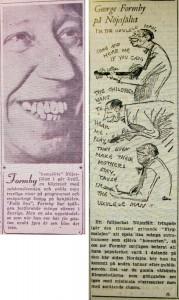 Expressens (t v) och Aftonbladets recensioner av framträdandet 1950.