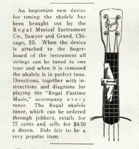 Regals ukulelstämmare MTR 1926